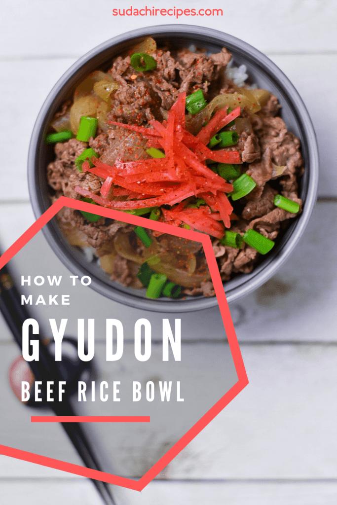 Japanese Sukiya Style Gyudon beef rice bowl