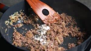 add salt, pepper and flour