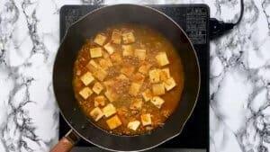 Bringing mabo tofu to a boil