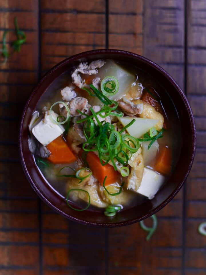 Japanese Pork Miso Tonjiru