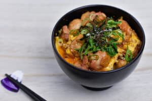 Japanese chicken and egg oyakodon