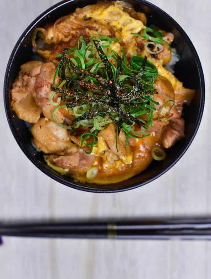 Japanese chicken and egg oyakodon