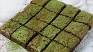 Green tea brownie easy recipe