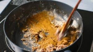 Adding toasted spices to the roux