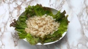 Japanese taco rice cooked rice