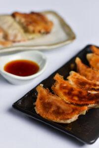 Pan fried Japanese Gyoza Dumplings