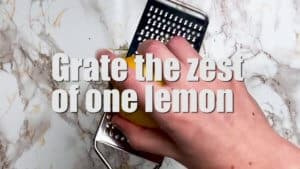 Japanese cheesecake zest of lemon