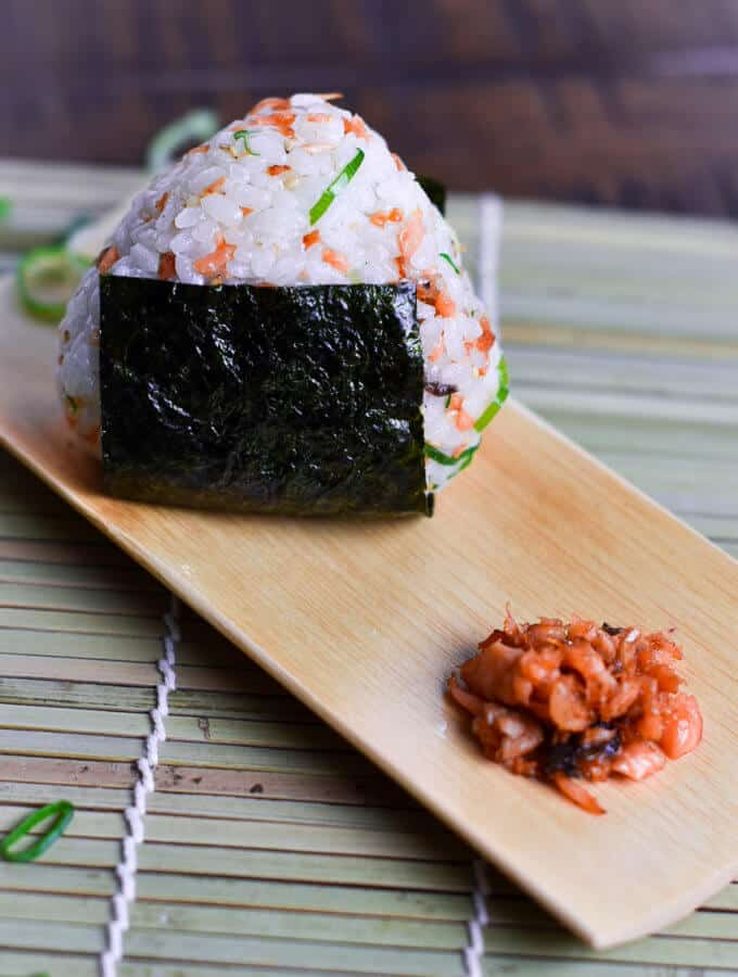 Salmon onigiri rice ball