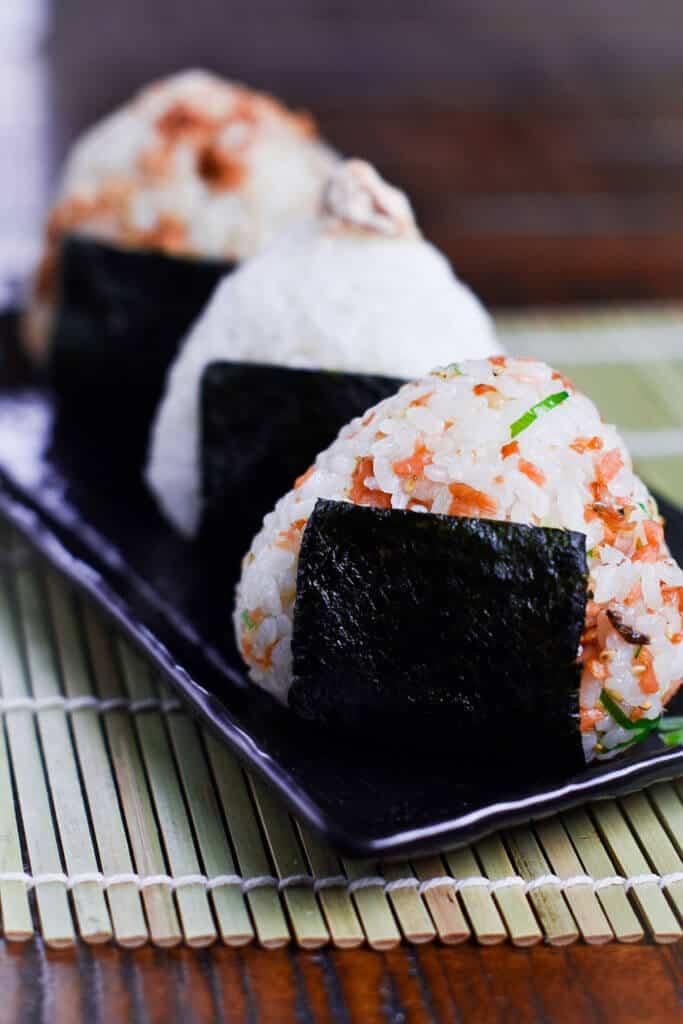 Salmon onigiri rice ball