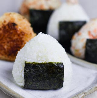 Basic salted onigiri rice ball