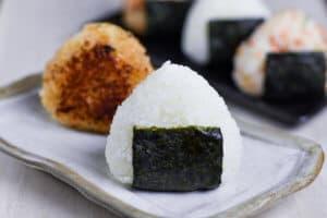 Basic salted onigiri rice ball