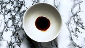 Soupless ramen abura soba sauce in a bowl