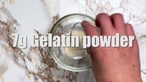 rare cheesecake gelatin