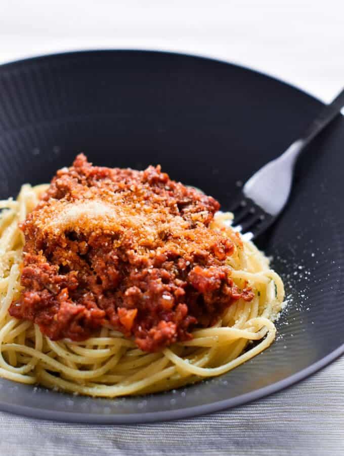 Japanese style Meat sauce Spaghetti