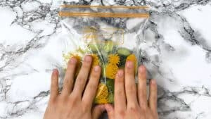 rub in the wasabi sugar and salt