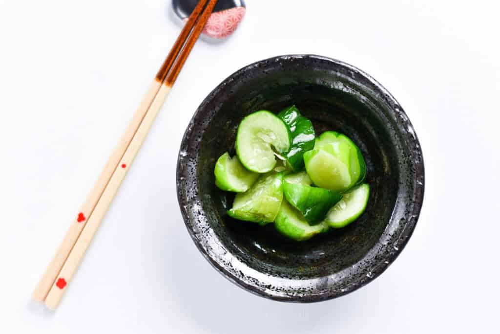 Wasabi Pickled Cucumbers