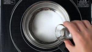 sugar in the pan