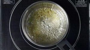 bubbling golden caramel