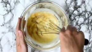Mixing in vanilla extract