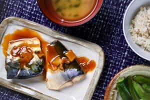 Japanese Miso Mackerel top view