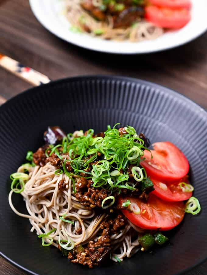 Summer vegetable soba noodles
