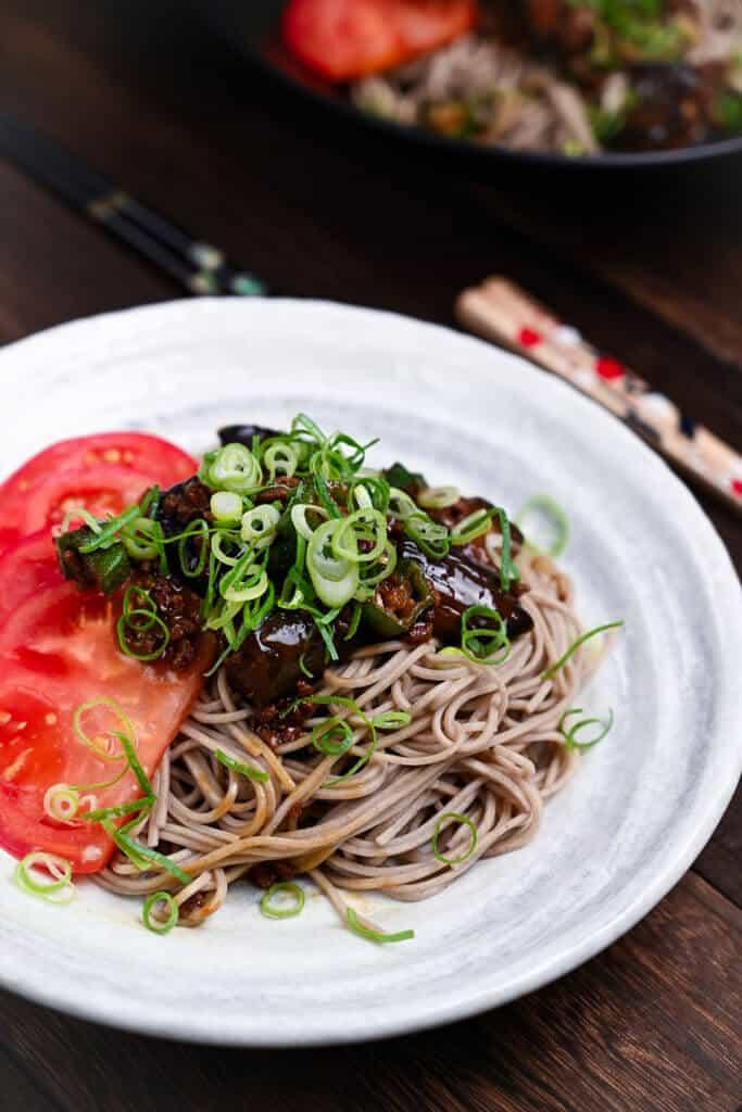 Summer vegetable soba noodles