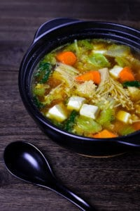 Chanko nabe side view with spoon