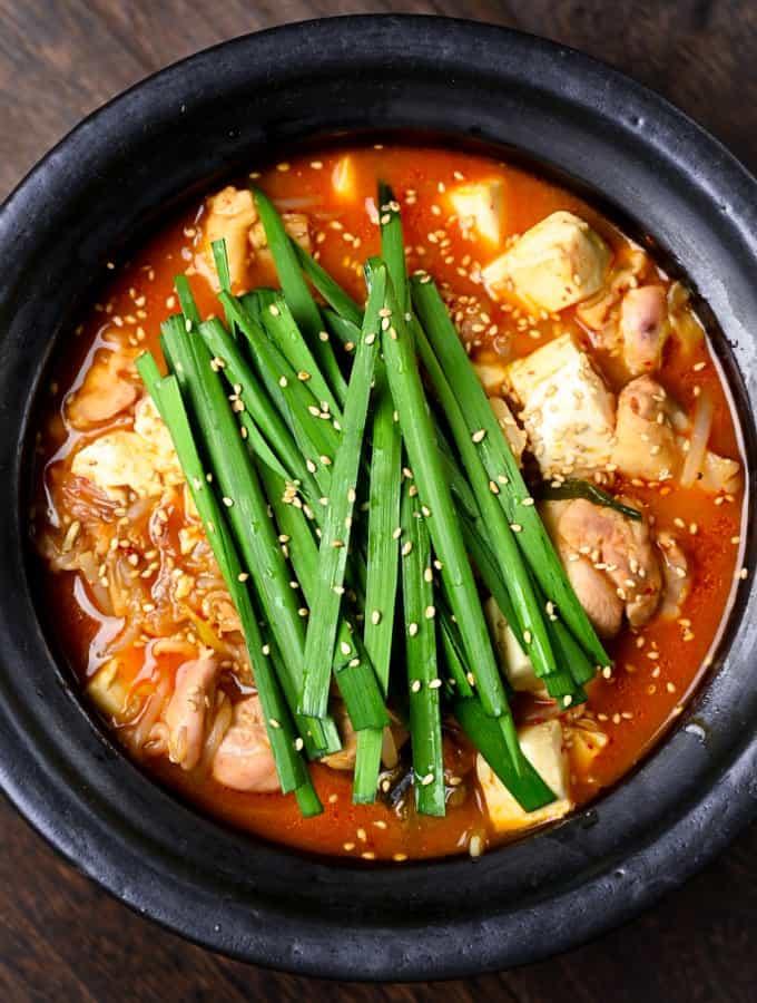 Kimchi Nabe Hot Pot Overhead