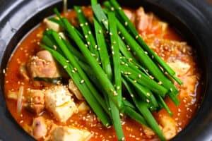 Kimchi Nabe side close up
