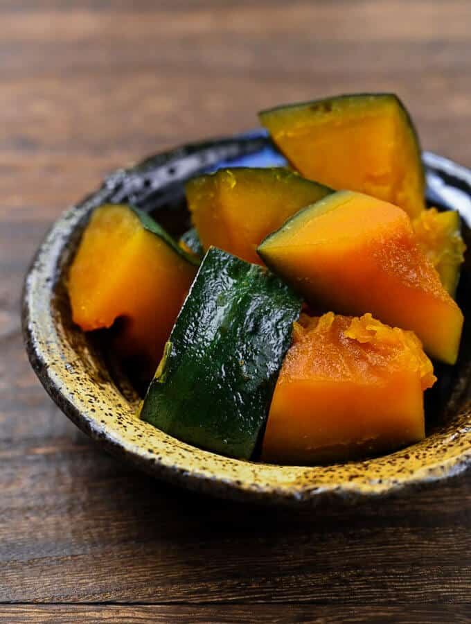 Japanese Simmered Pumpkin Side View