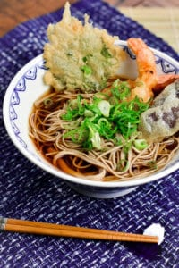 Tempura Soba with Chopsticks