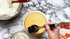 brush the top with syrup