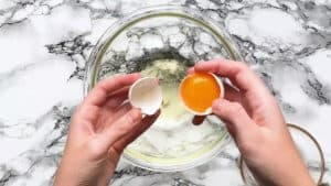 Cracking the eggs