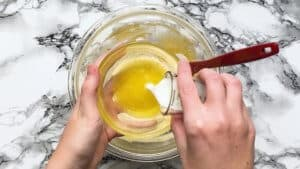 add milk to the melted butter