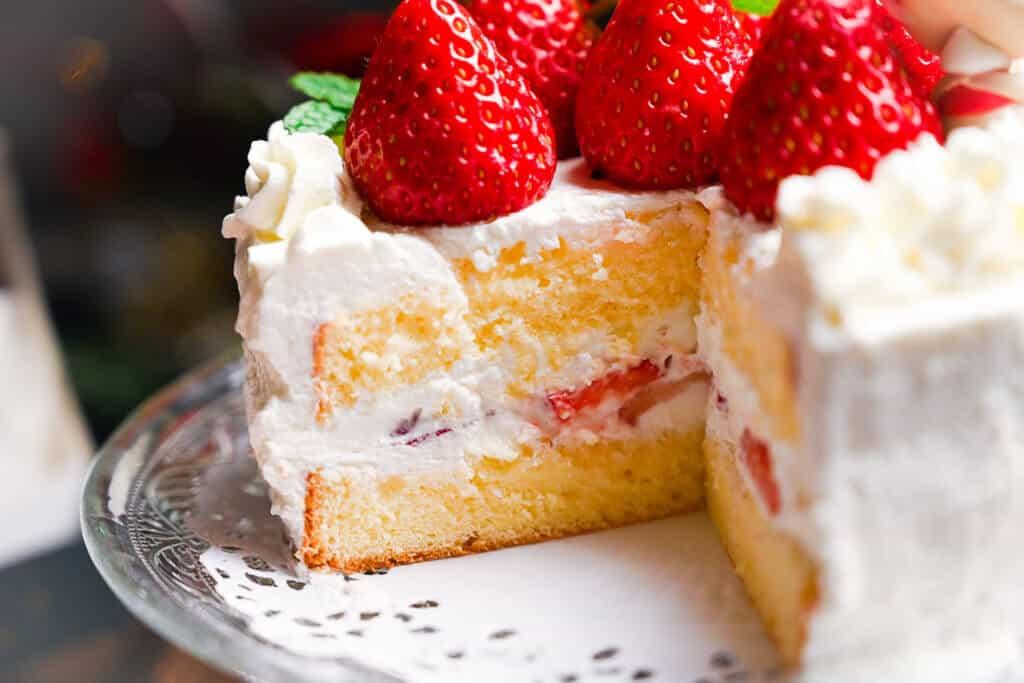 Strawberry Shortcake cut (inside view)