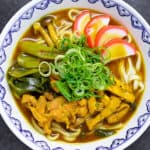 Curry Udon Top down view