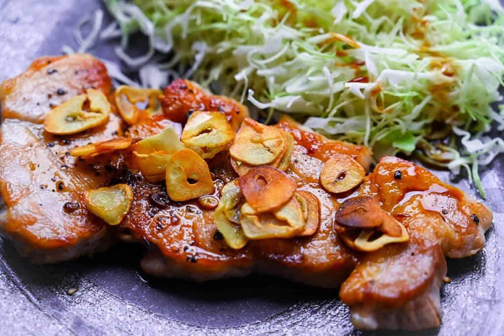 Tonteki Pork Steak Closeup