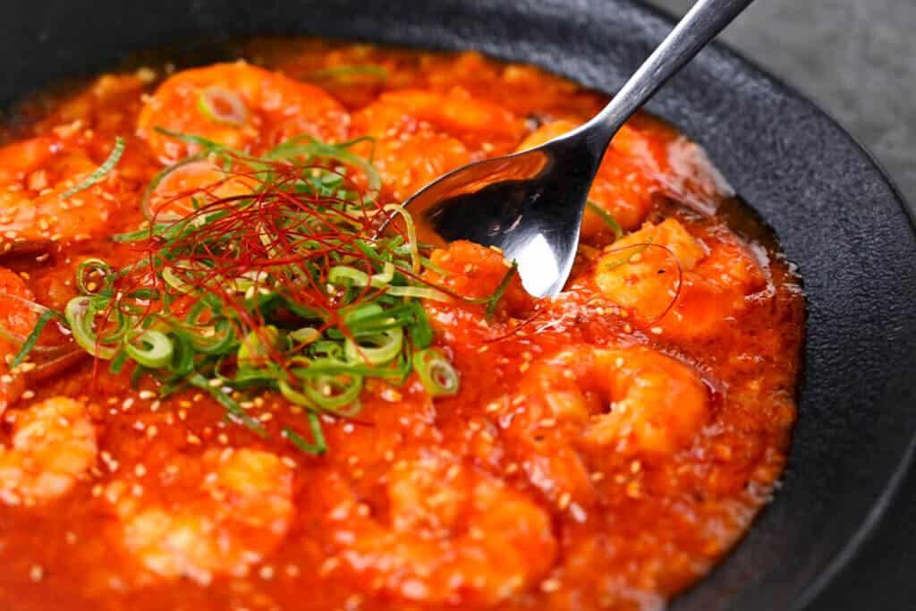 ebi chili and spoon