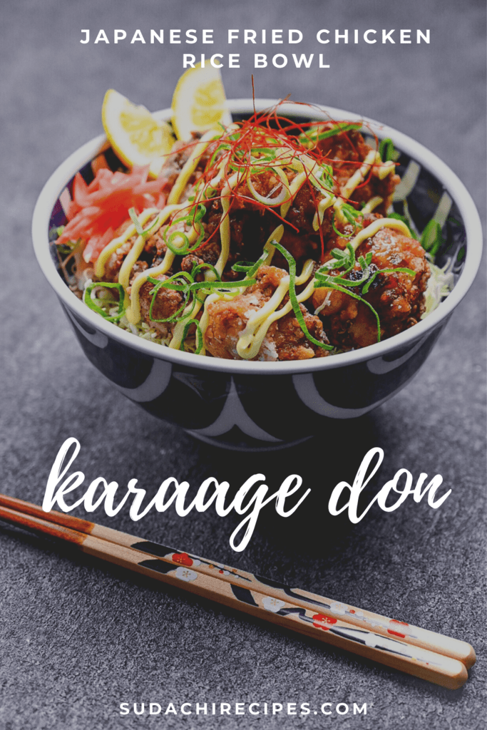 Karaage Don - Japanese fried chicken on rice