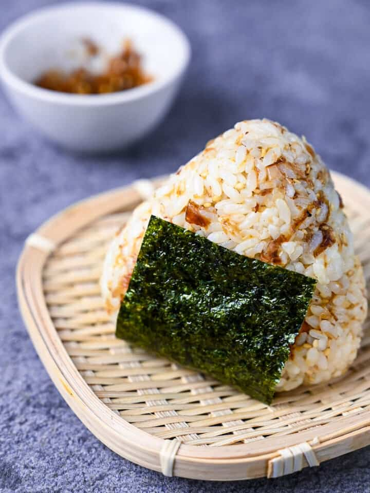Okaka Onigiri with Seasoned Bonito Flakes