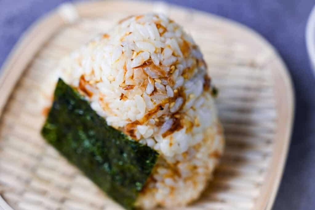 Okaka Onigiri Rice Ball Close Up