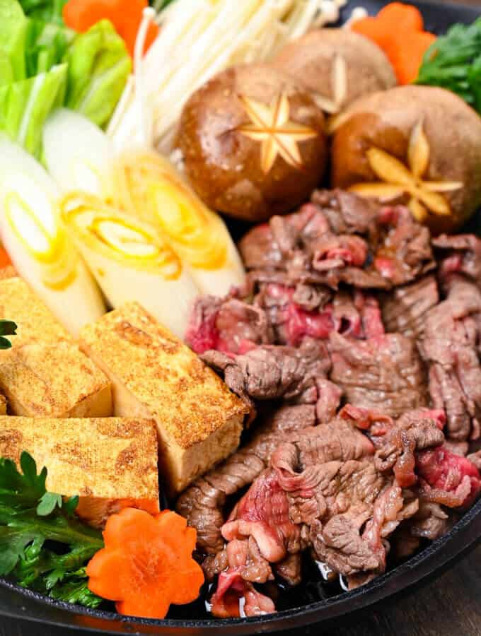 Sukiyaki Japanese Beef Hot Pot