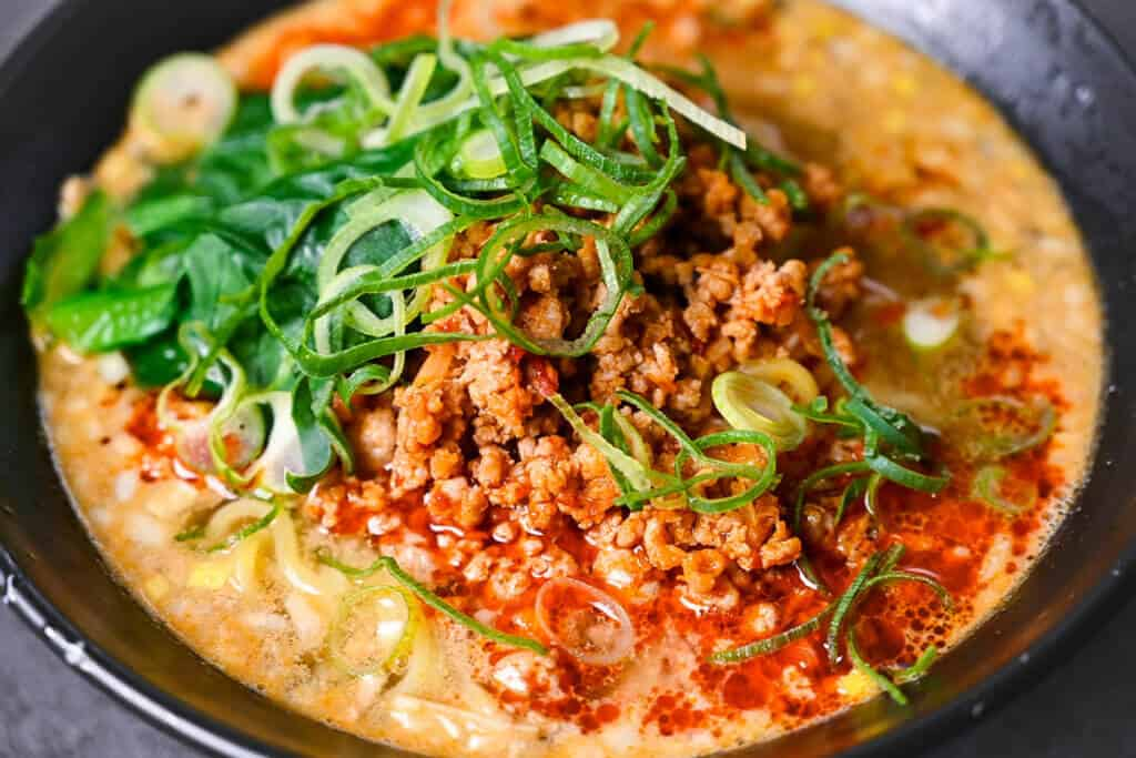 tantanmen ramen close up