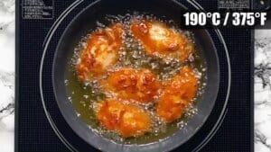 increase heat and fry for 1 min on each side