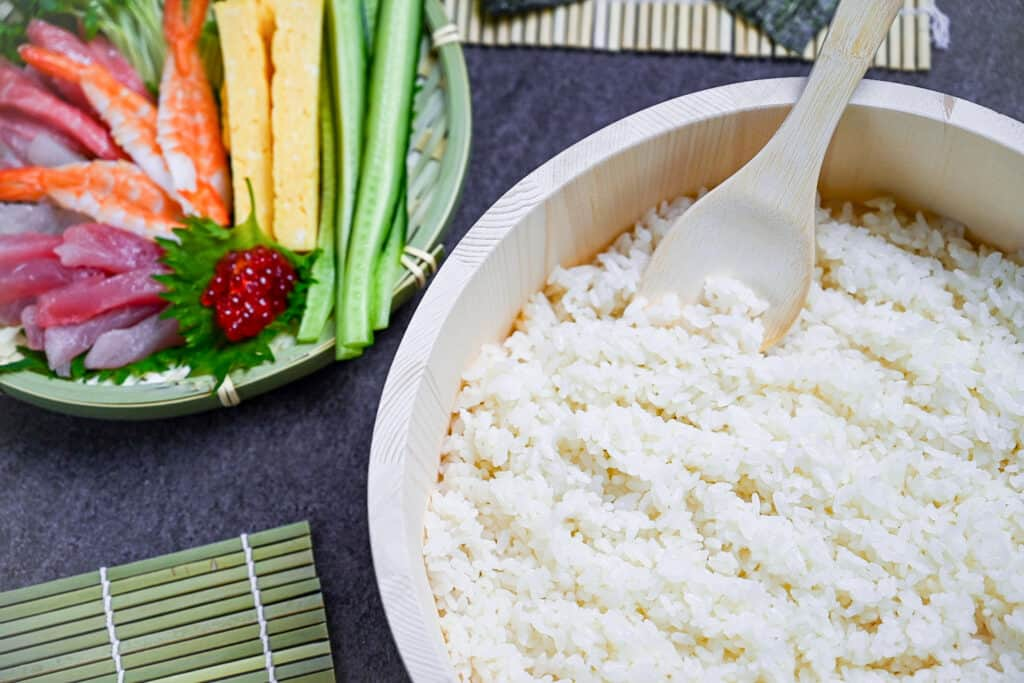 sushi rice and sushi ingredients