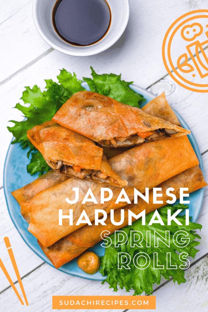 Japanese spring roll haru maki